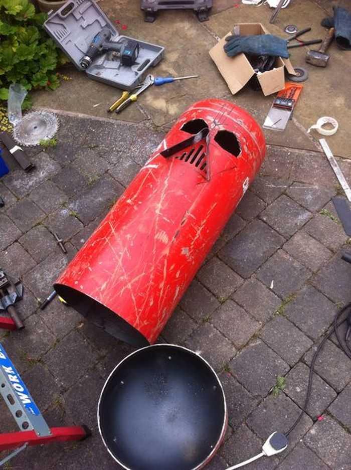 How To Make The Big Bad Vader Log Burner pictures 002