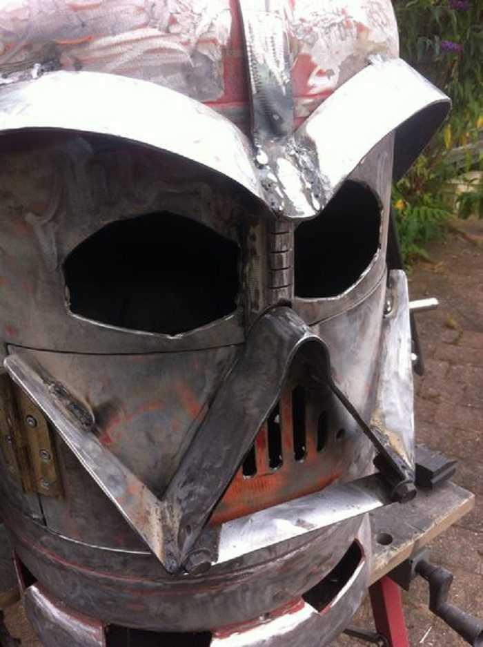 plain darth vader wood burner background