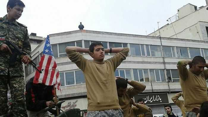 Iran Mocking United States Sailors In A Parade pictures 003