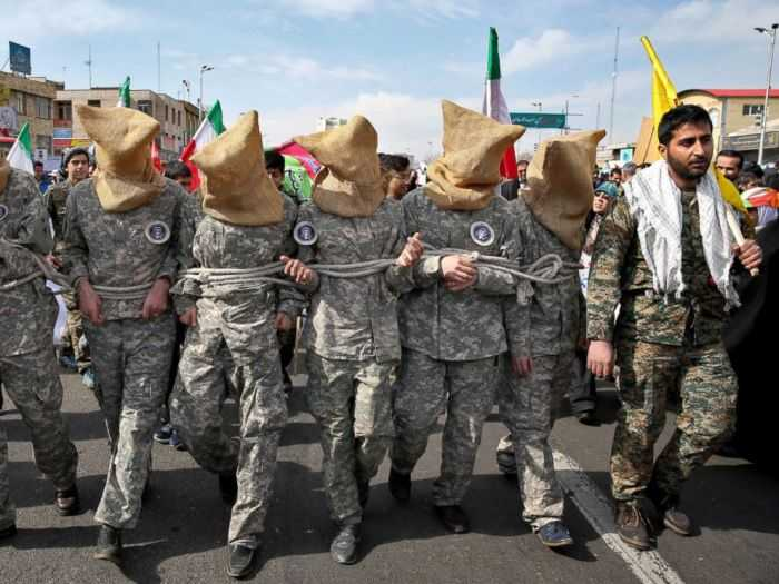 Iran Mocking United States Sailors In A Parade pictures 004
