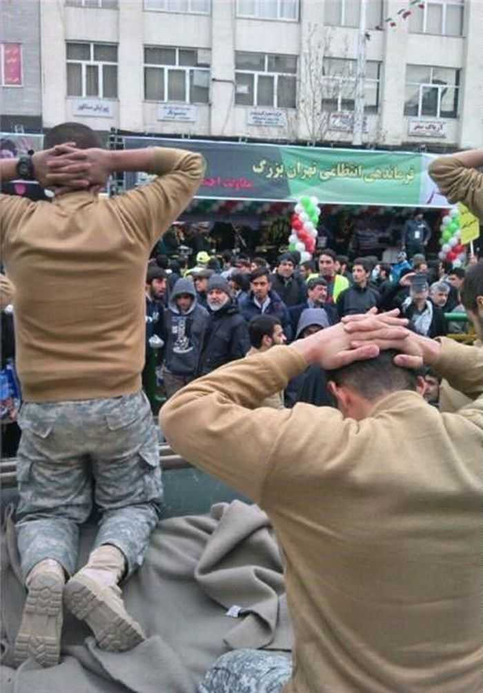 Iran Mocking United States Sailors In A Parade pictures 005