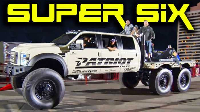 Meet The Super Six - The Six Door Ford F-550 Heavy D And DieselSellerz SEMA 2015 Build pictures 002
