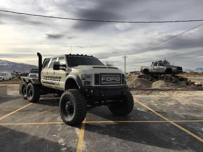 Six Door Dodge Truck >> Meet The Super Six - The Six Door Ford F-550 Heavy D And Diesel Sellerz SEMA 2015 Build