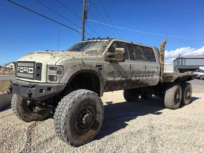 Ford F350 6 Door >> Meet The Super Six - The Six Door Ford F-550 Heavy D And Diesel Sellerz SEMA 2015 Build