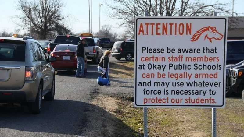 Oklahoma Schools Now Displaying Signs Warning That Staff Members Are Armed featured