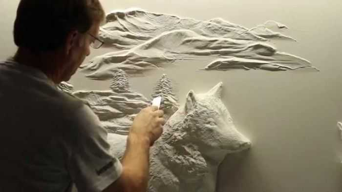 Pretty Amazing Drywall Art - Meet Bernie Mitchell pictures 004
