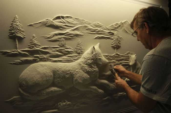 Pretty Amazing Drywall Art - Meet Bernie Mitchell pictures 005