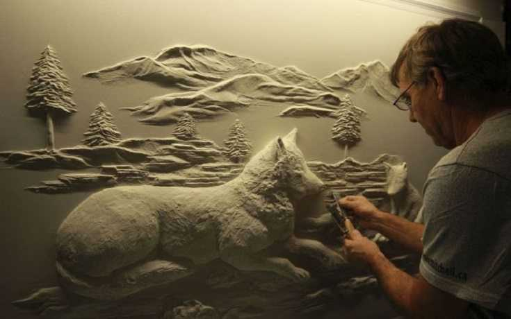 Pretty Amazing Drywall Art - Meet Bernie Mitchell videos featured