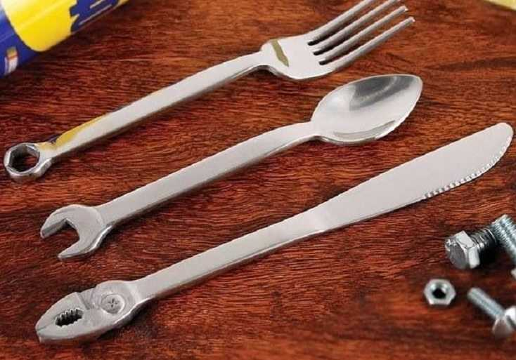 Wrenchware 3-Piece Cutlery Set - Eat Dinner Like A Boss featured