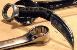 How To Make A Really Sharp Karambit Out Of A 21mm Wrench featured
