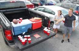 The Penda Tailgate Beer Pong Table featured