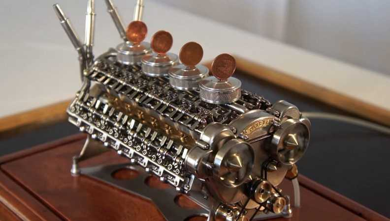 This Tiny W-32 64 Valve 32 Cylinder Functional Engine Is The Epitome Of Amazing Craftsmanship - And Oddly Satisfying To Watch featured
