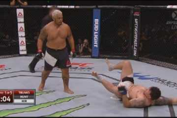 UFC Fight Night 85 - Mark Hunt Knocks Out Frank Mir - Then Walks Off Like A Boss - Again featured