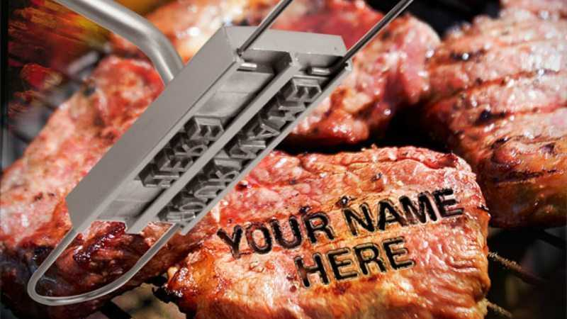 BBQ Branding Iron With Changeable Letters featured