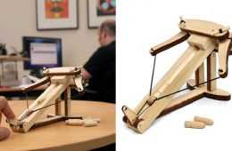 DIY Miniature Wooden Ballista Kit featured