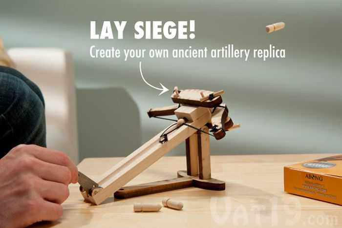 DIY Miniature Wooden Ballista Kit pictures 002