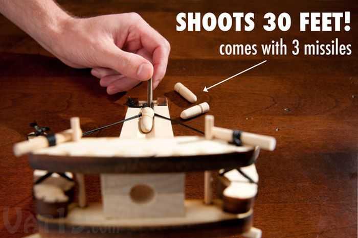 DIY Miniature Wooden Ballista Kit pictures 003