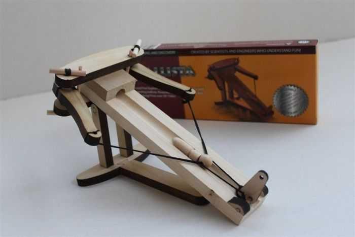 DIY Miniature Wooden Ballista Kit pictures 004