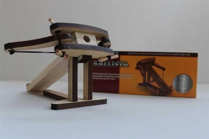 DIY Miniature Wooden Ballista Kit pictures 006