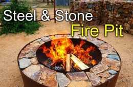 Pretty Great Diy Fire Pit With Steel &Amp; Stone Featured