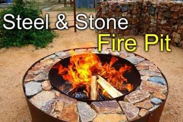 Pretty Great DIY Fire Pit With Steel & Stone featured