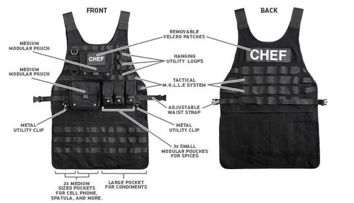 Tactical BBQ Chef Apron pictures 004