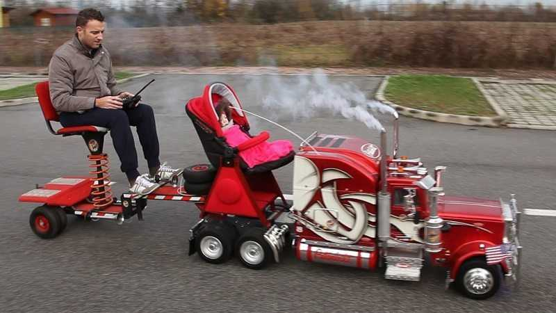 Epic RC Peterbilt 359 - Oh And It's A Baby Stroller featured