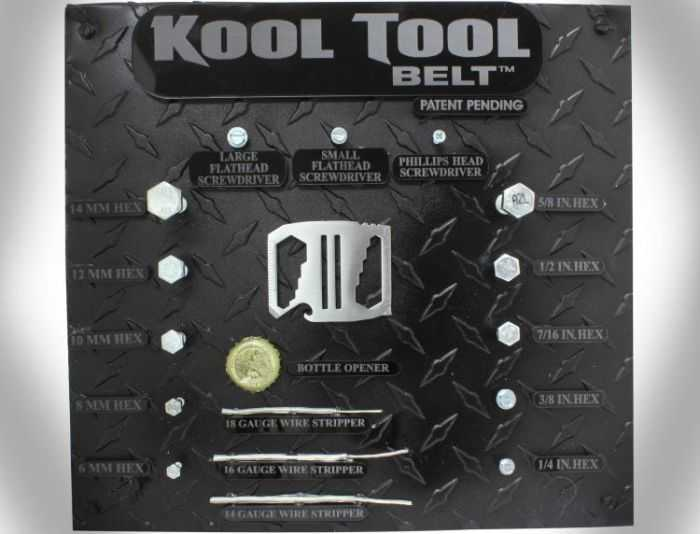 Kool Tool Belt - Belt Buckle With 9 Different Tools pictures 002