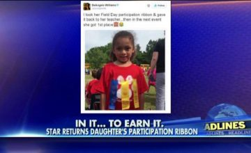 Pittsburgh Steelers Running Back DeAngelo Williams Didn't Let His Daughter Keep Her Participation Ribbon featured
