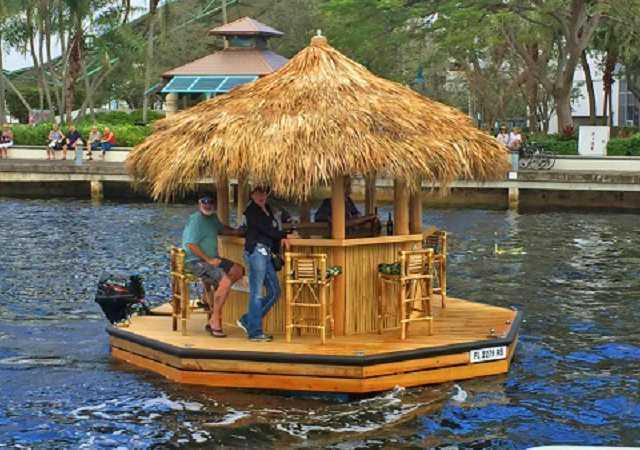 Crusin Tiki - Get Your Own Tiki Bar Boat
