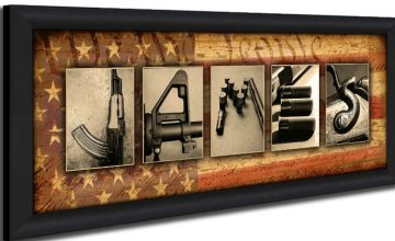 Epic Personalized Firearm Art - Spell Your Name With Firearms featured