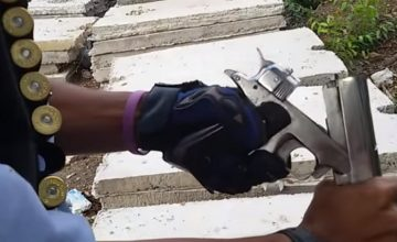 New Video Of A Guy In Thailand Shooting A 1911 - That Fires Shotgun Shells featured