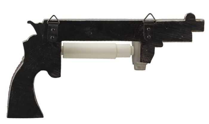 Pistol Revolver Toilet Paper Holder review where to buy 001