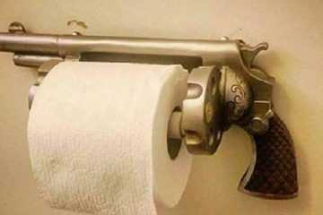 Pistol Revolver Toilet Paper Holder review where to buy featured