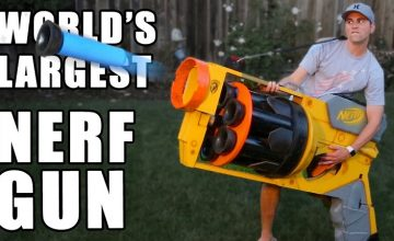 This Guy Built The World's Largest Nerf Gun. And I Kinda Want It. featured