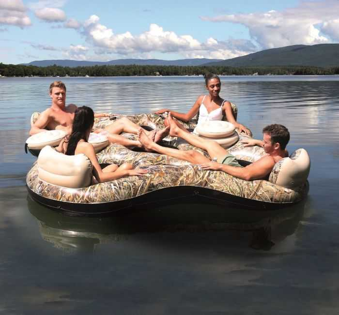 four person Realtree Camo Floating Island review where to buy 002