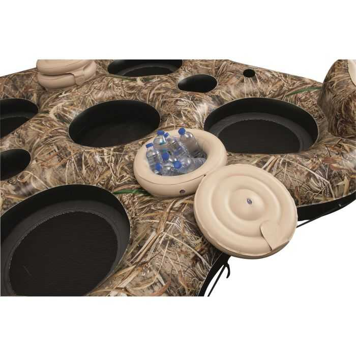 four person Realtree Camo Floating Island review where to buy 005