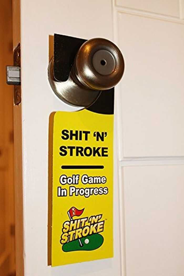 shit N Stroke Potty Putter Bathroom Golf Kit 001