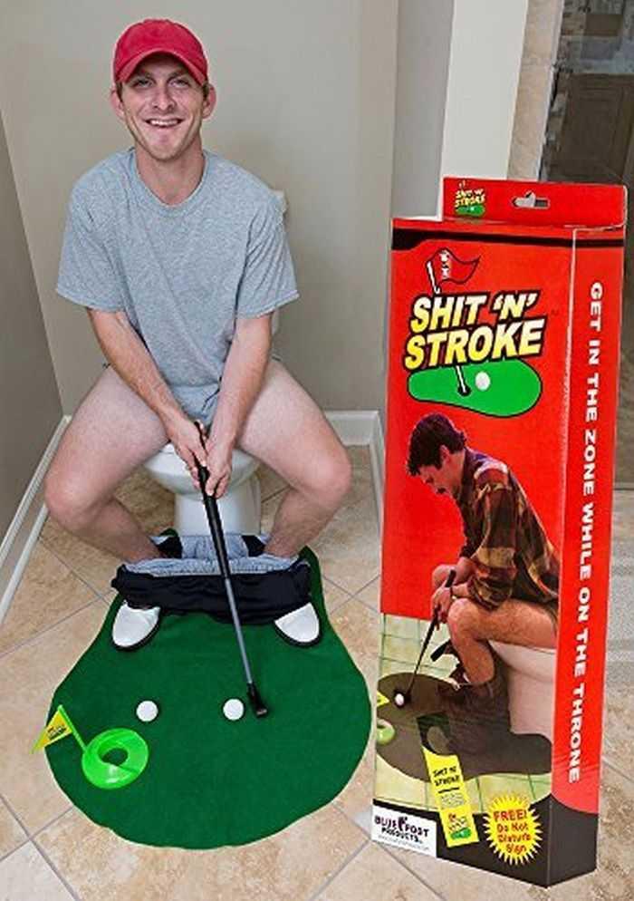 shit N Stroke Potty Putter Bathroom Golf Kit 002