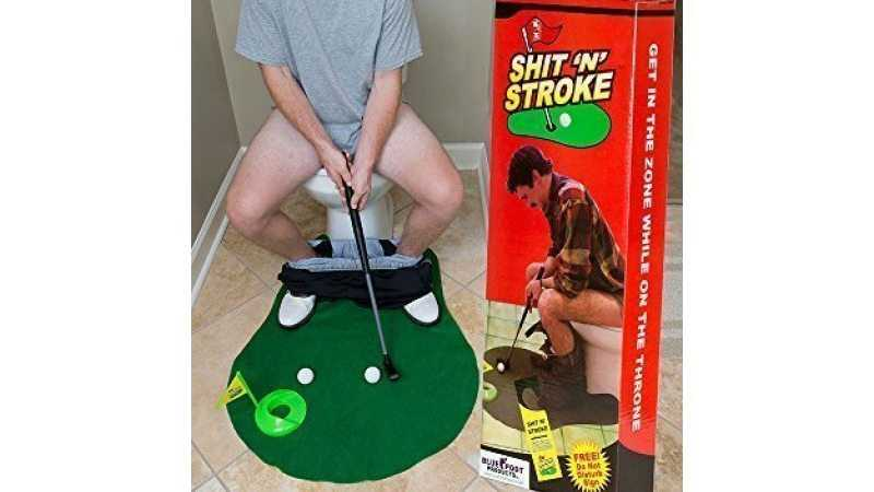 shit N Stroke Potty Putter Bathroom Golf Kit 003 featured