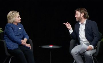 Zach Galifianakis Hilary Clinton Between Two Ferns featured