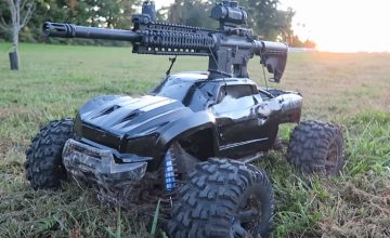 Traxxas Xmaxx With A Mounted Ar-15 - Best RC Truck EVER
