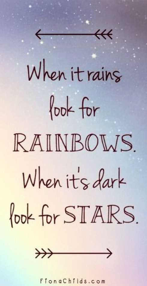 27 Of The Best Motivational Quotes Ever - when it rains look for rainbows