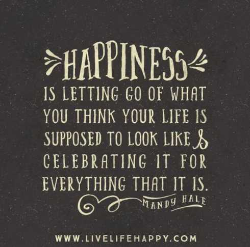 27 Of The Best Motivational Quotes Ever - happiness is letting go of what you think your life is supposed to look like