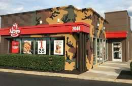 a-camo-covered-arbys-in-nashville-tennesse-sold-out-all-of-its-venison-sandwiches-250-of-them-in-the-first-five-hours-on-the-opening-day-of-their-we-have-the-meats-promotion-fe