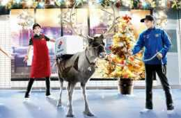 Domino's Pizza in Japan IsTraining Reindeer To Deliver Pizza