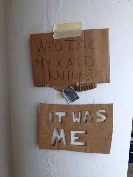 who-took-my-knife-sign