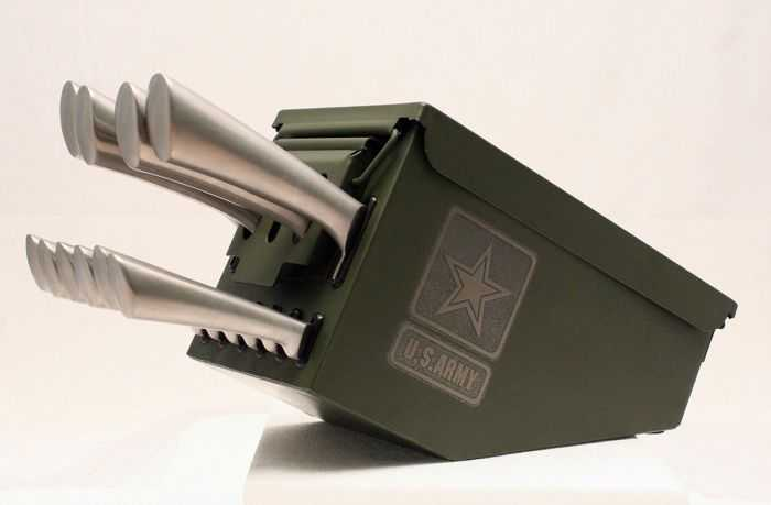 Ammo Can 10 Piece Knife Set 002