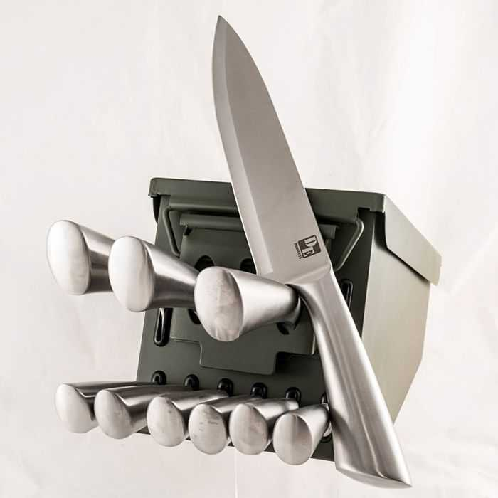 Ammo Can 10 Piece Knife Set 006