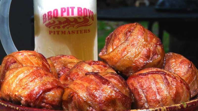 Bacon Wrapped Fireball Meatballs